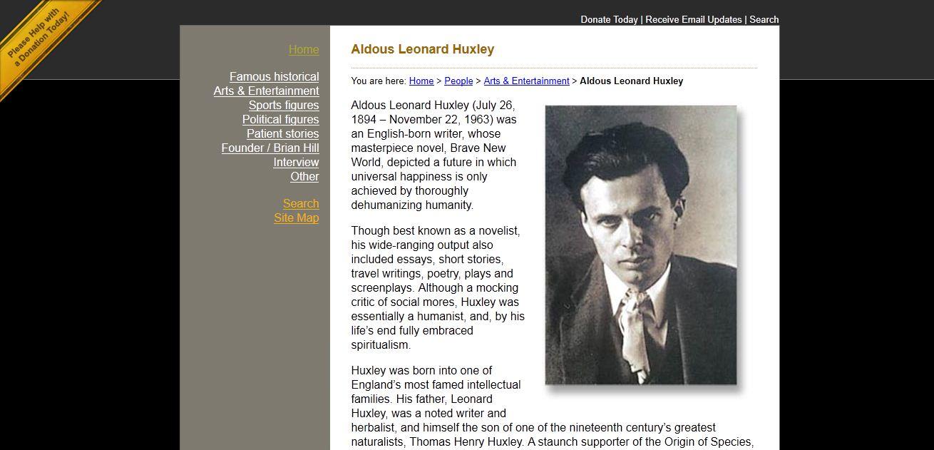 huxley essays humanist